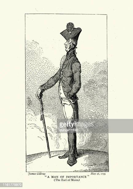 francis rawdon-hastings, earl of moira - governor stock illustrations, clip art, cartoons, & icons