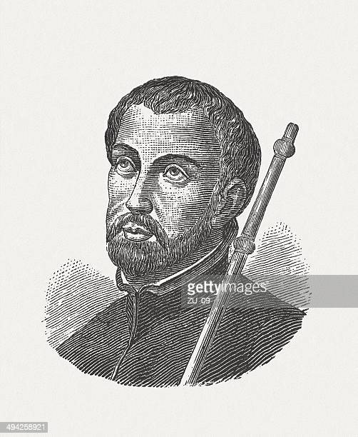 francis xavier (1506-1552), spanish missionary in asia - st. francis xavier stock illustrations