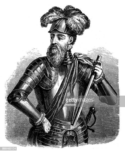 francisco pizarro, 1471-1541 - seville stock illustrations, clip art, cartoons, & icons