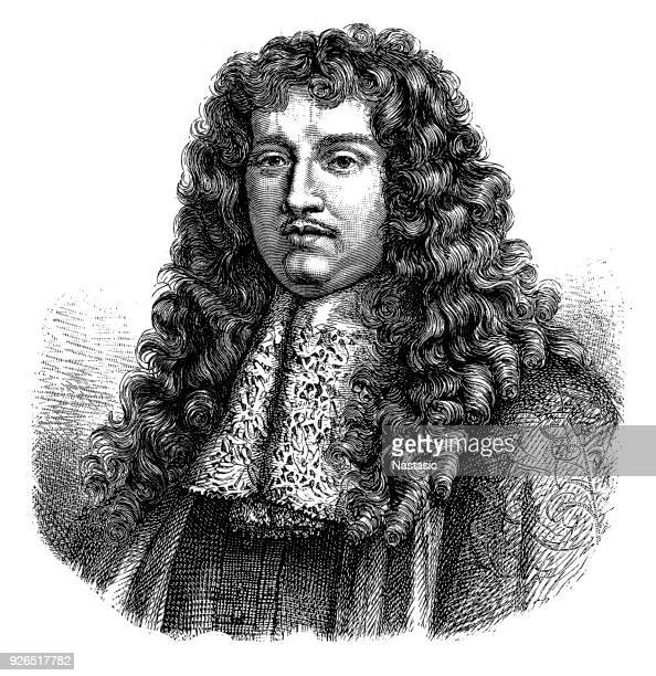 francois michel le tellier, marquis de louvois (18 january 1641 – 16 july 1691), french politician, minister of war under louis xiv - louis xiv of france stock illustrations, clip art, cartoons, & icons