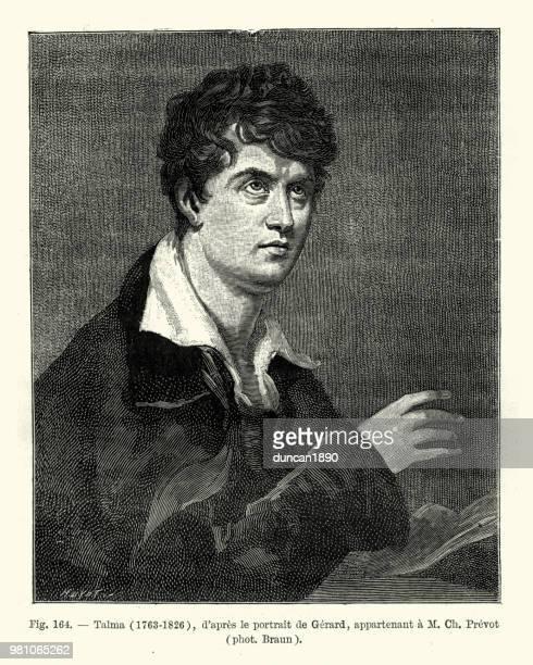 francois-joseph talma, french actor, late 18th century - actor stock illustrations, clip art, cartoons, & icons