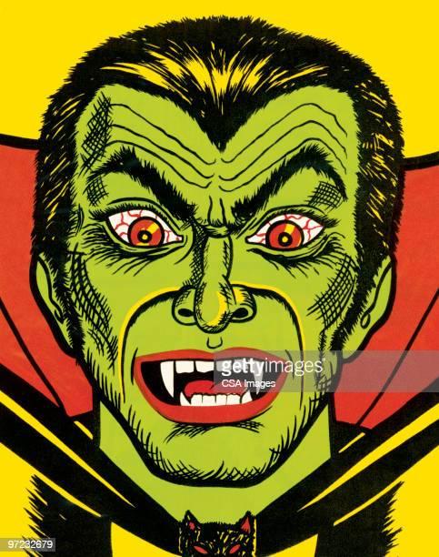 ilustraciones, imágenes clip art, dibujos animados e iconos de stock de frankenstein - vampiro