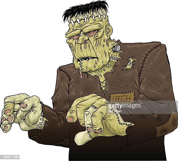 frankensteins monster - frankenstein stock illustrations