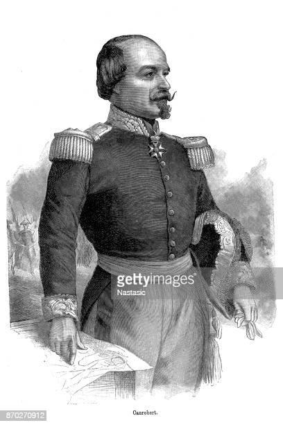 françois certain canrobert ,maréchal canrobert - rennes france stock illustrations, clip art, cartoons, & icons