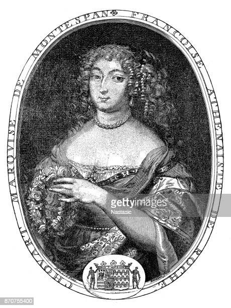 françoise athénaïs de rochechouart de mortemart, marquise of montespan (5 october 1640 – 27 may 1707), madame de montespan - louis xiv of france stock illustrations, clip art, cartoons, & icons