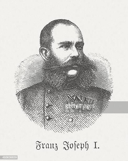 franz joseph i (1830-1916), wood engraving, published in 1881 - hapsburg dynasty stock illustrations