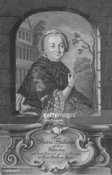 Frau Maria Mullerin', . Portrait of Maria Mullerin . Artist Gustav Andreas Wolfgang.