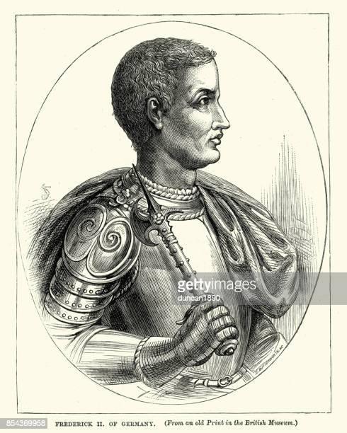 frederick ii, holy roman emperor - emperor stock illustrations, clip art, cartoons, & icons