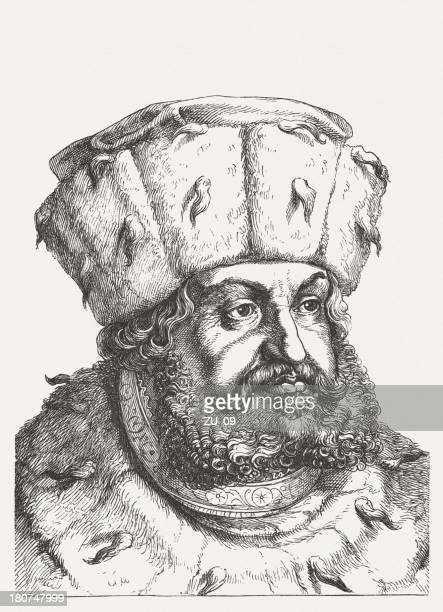 Frederick III (1463-1525) by Lucas Cranach, Saxon elector, published 1879