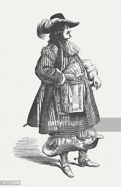 Frederick III of Denmark (1609-1679), wood engraving, published in 1881