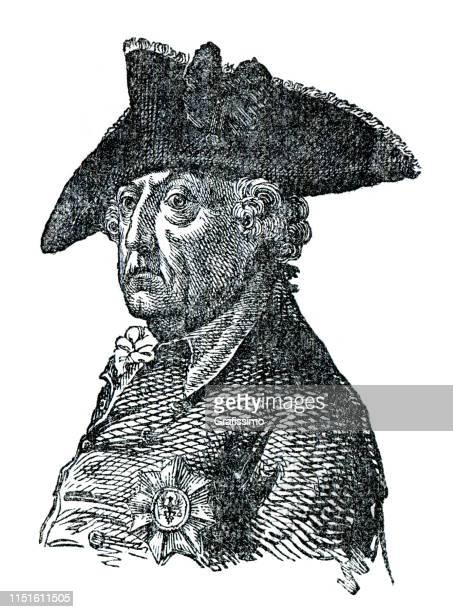 Frederick the Great of Prussia Portrait illustration
