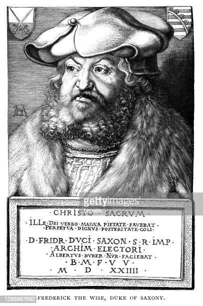 bildbanksillustrationer, clip art samt tecknat material och ikoner med fredrik den vise, hertig av sachsen - duke