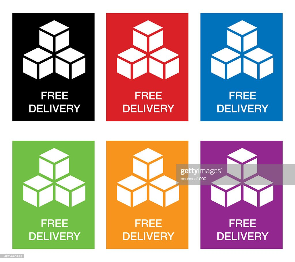 free shipping icons with stacked boxes stock illustration getty images