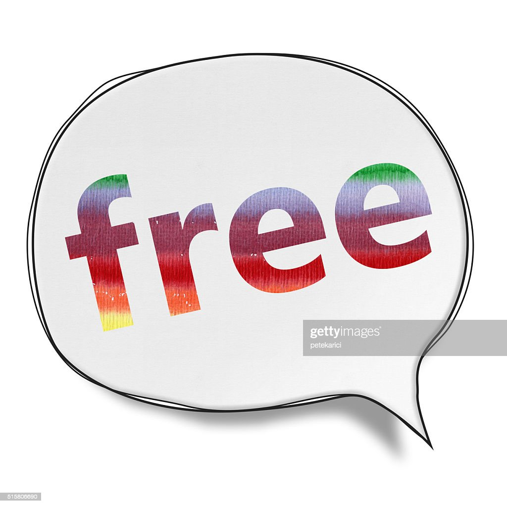 Free - Speech Bubbles (Clipping Path) : stock illustration
