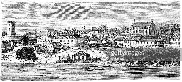 Freetown, Sierra Leone (1882 engraving)