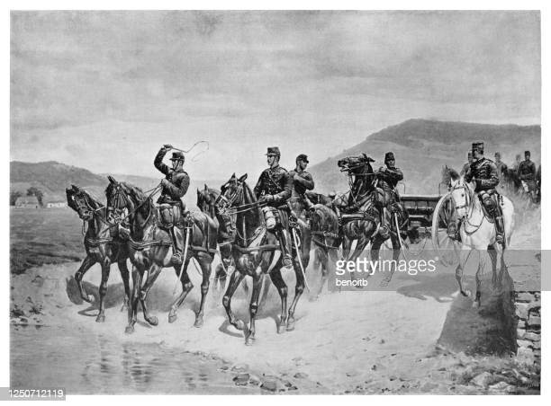 french cavalry - cavalry stock illustrations
