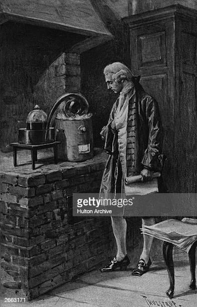 French chemist Antoine Lavoisier at work