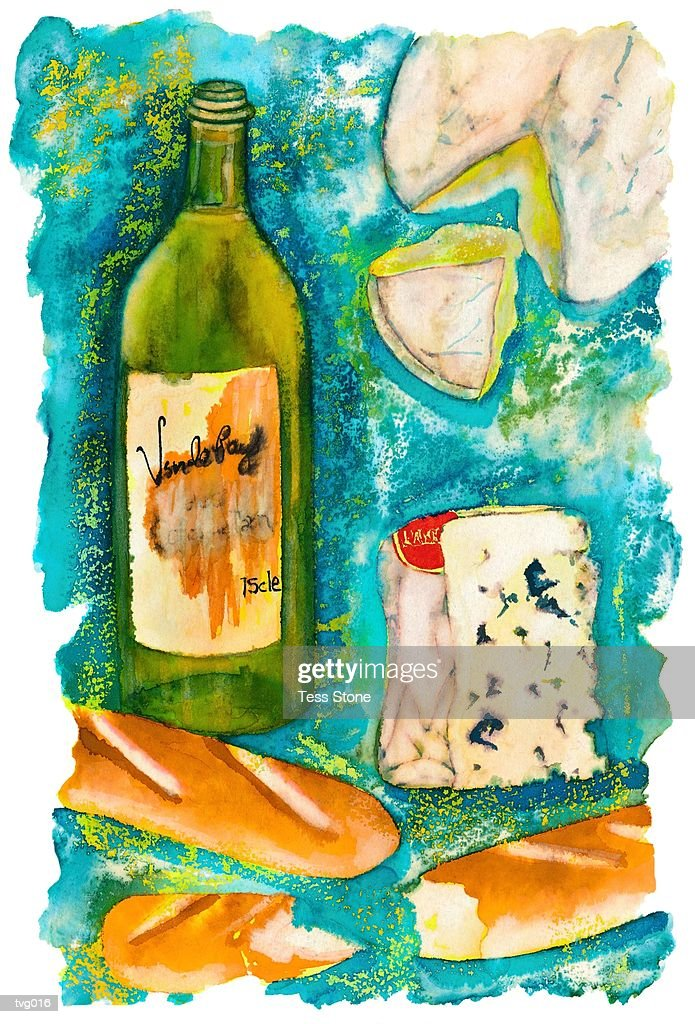 French Delicacies : Stockillustraties