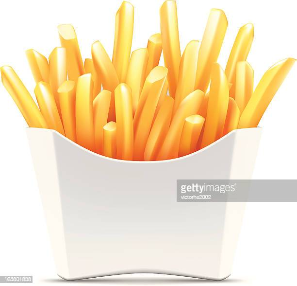 french fries - french fries stock illustrations, clip art, cartoons, & icons