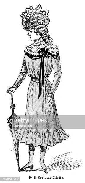 French Girls Fashion 1900