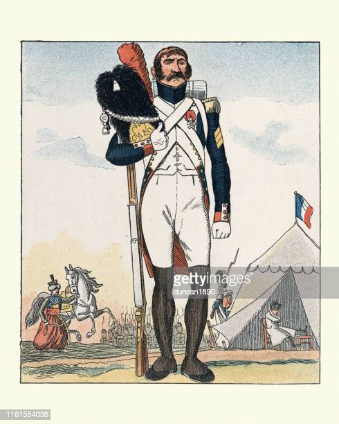 French Grenadier of the Imperial Guard, Napoleonic Wars, Military Uniform