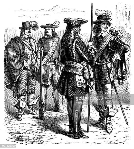 french guardsmen - musketeer stock illustrations, clip art, cartoons, & icons