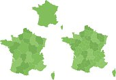 French map with regions.