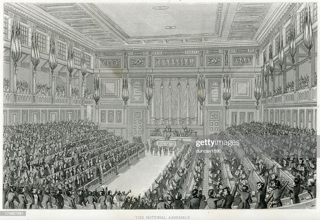French National Assembly, Paris : stock illustration
