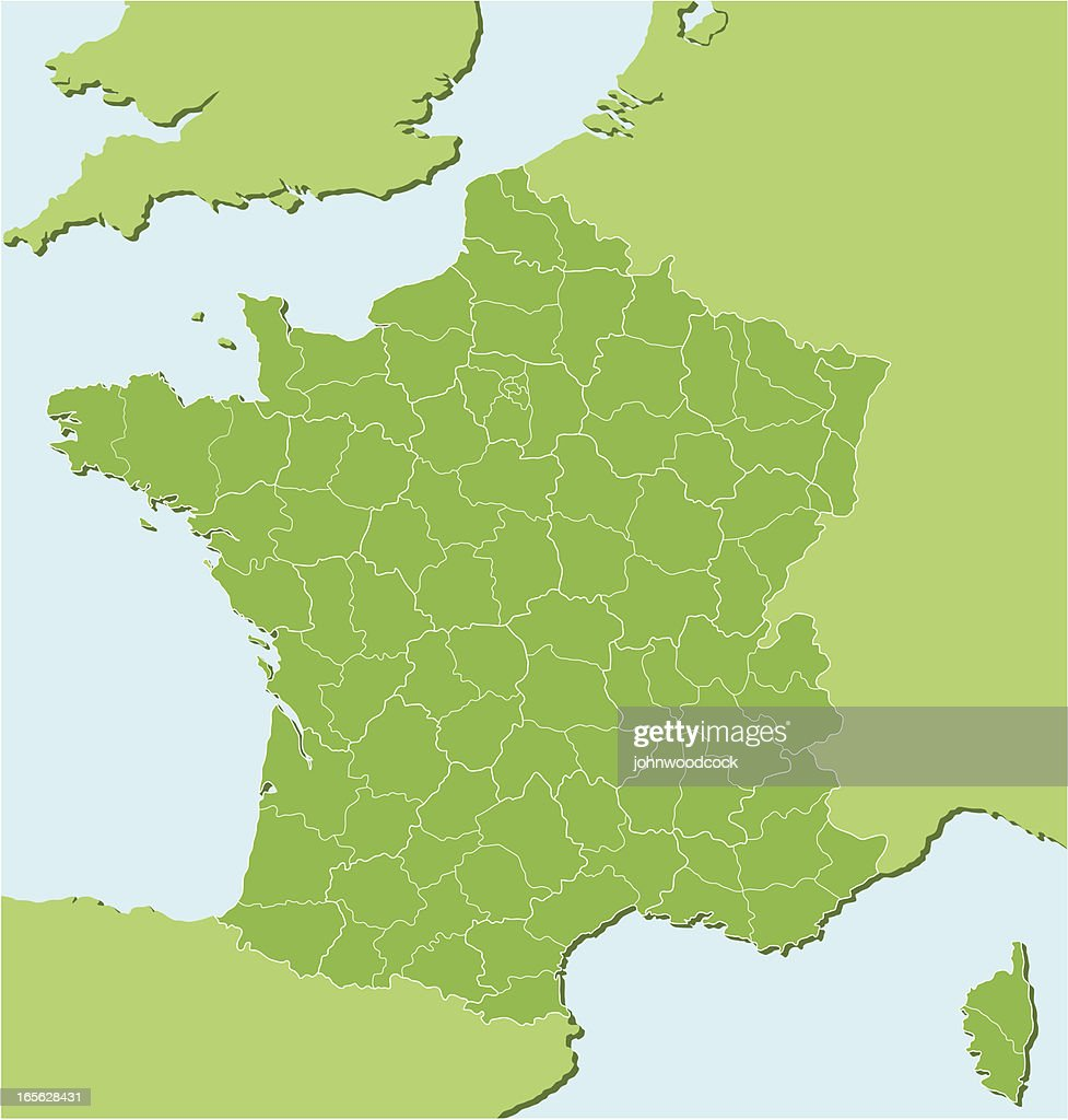 French regional map two : stock illustration
