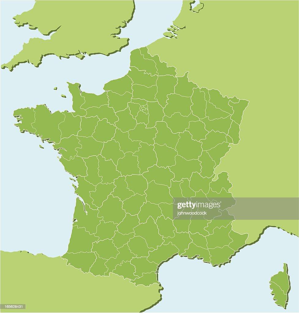 Mapa regional francesa dos : Ilustración de stock