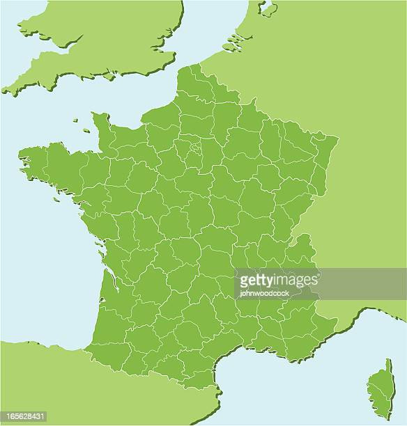 french regional map two - normandy stock illustrations, clip art, cartoons, & icons