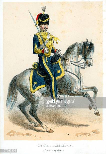 french soldiers of the 19th century - arabian horse stock illustrations, clip art, cartoons, & icons