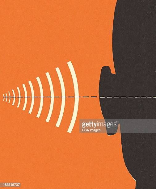 frequency and hearing - ear stock illustrations