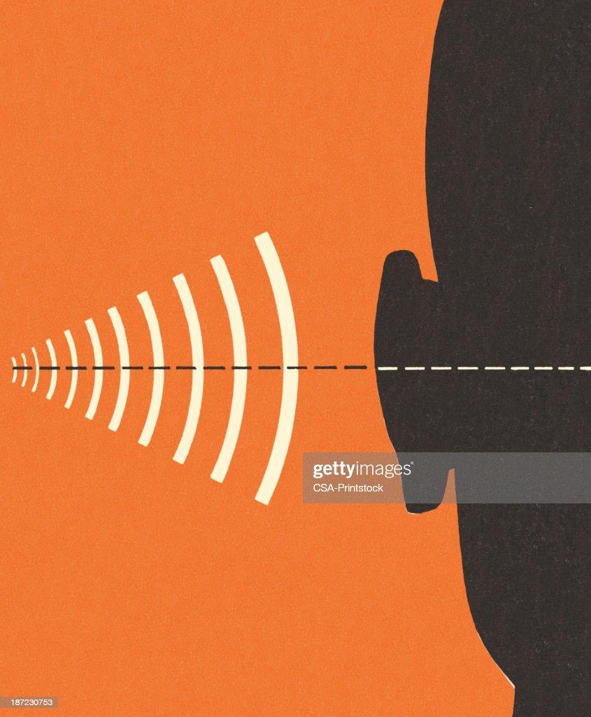 周波数と聴覚 : ストックイラストレーション