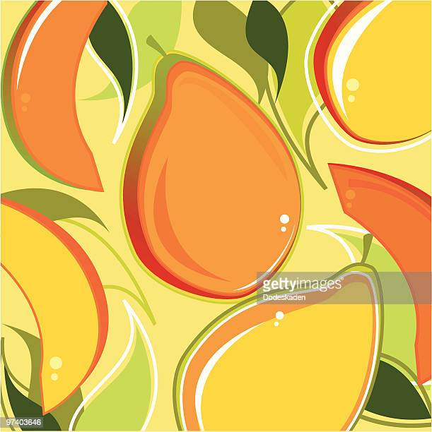 fresh taste of mangos - mango fruit stock illustrations, clip art, cartoons, & icons