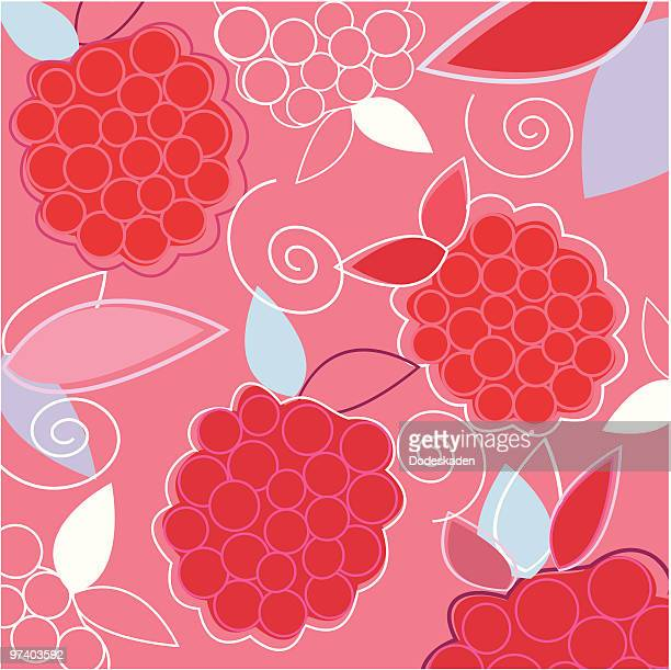 fresh taste of summer raspberry - raspberry stock illustrations, clip art, cartoons, & icons