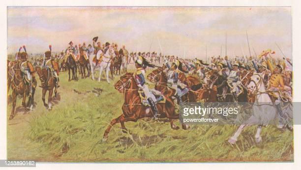 1807, friedland von ernest meissonier - 19. jahrhundert - kunstgemälde stock-grafiken, -clipart, -cartoons und -symbole