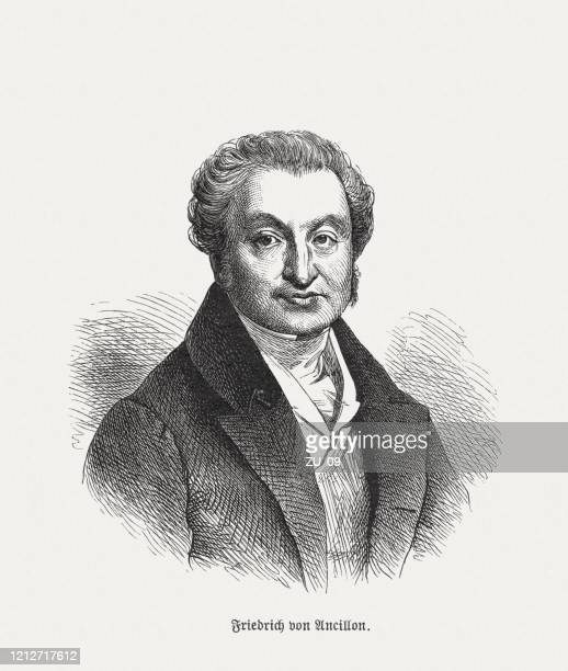 ilustrações, clipart, desenhos animados e ícones de friedrich ancillon (1767-1837), historiador prussiano e estadista, xiloga, publicado em 1893 - filósofo