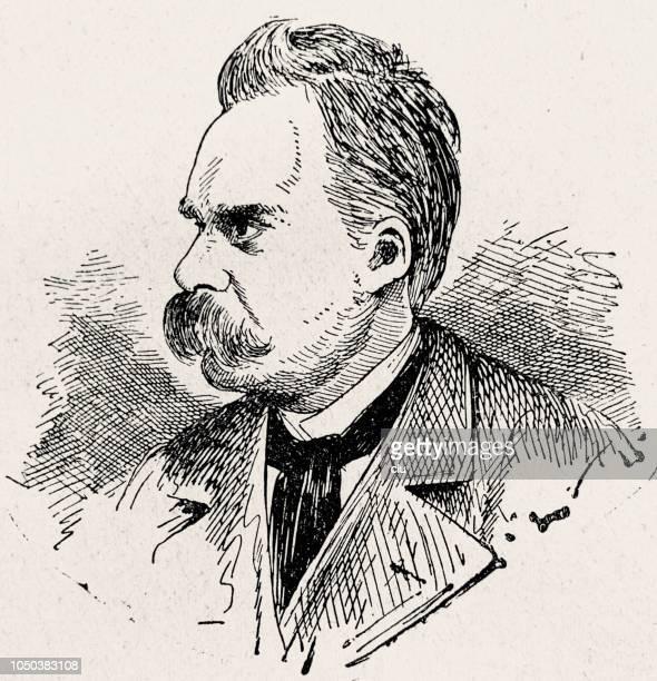 フリードリヒ ・ ニーチェ ドイツの哲学者、1844-1900 - 1890~1899年点のイラスト素材/クリップアート素材/マンガ素材/アイコン素材