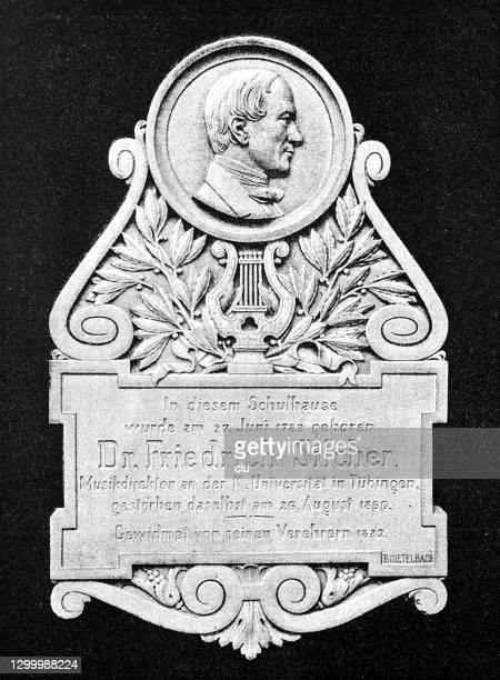 ドイツの作曲家フリードリヒ・シルヒャー、シュナイスの生家の記念碑 - 名作 発祥の地点のイラスト素材/クリップアート素材/マンガ素材/アイコン素材