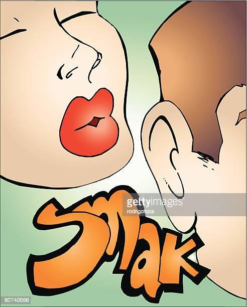 friend kiss - slapping stock illustrations, clip art, cartoons, & icons