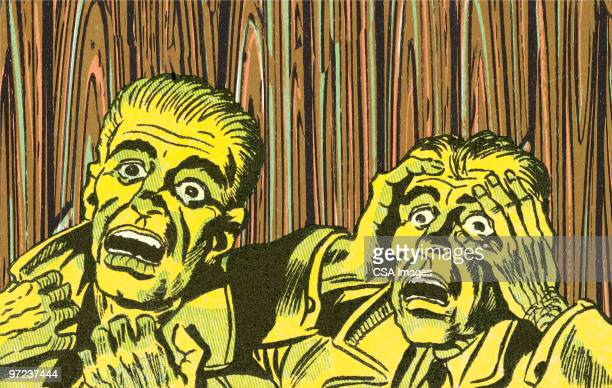 frightened people - gasping stock illustrations, clip art, cartoons, & icons