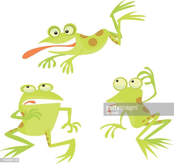 frogs in funny poses - sticking out tongue stock illustrations, clip art, cartoons, & icons