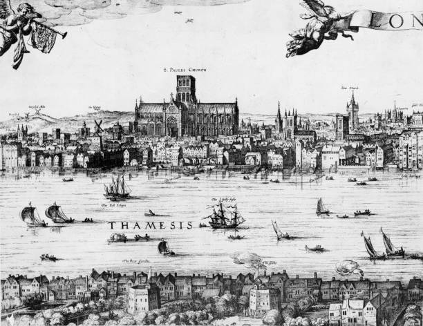 From Vischer's Panorama of London, a view of the River...