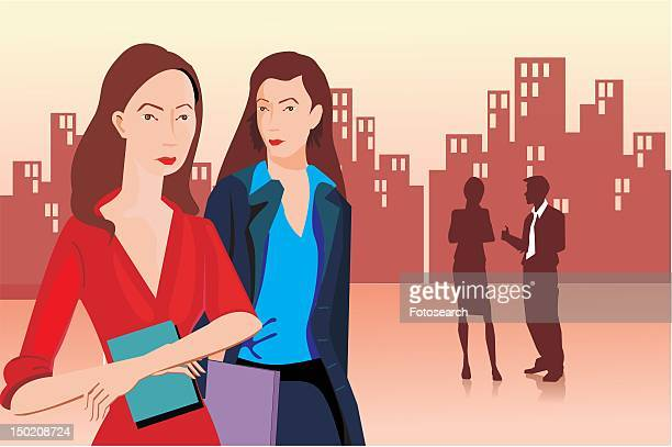 Front view of businesswomen
