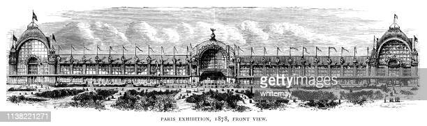 Front view of the Paris Exhibition (Exposition Universelle), 1878