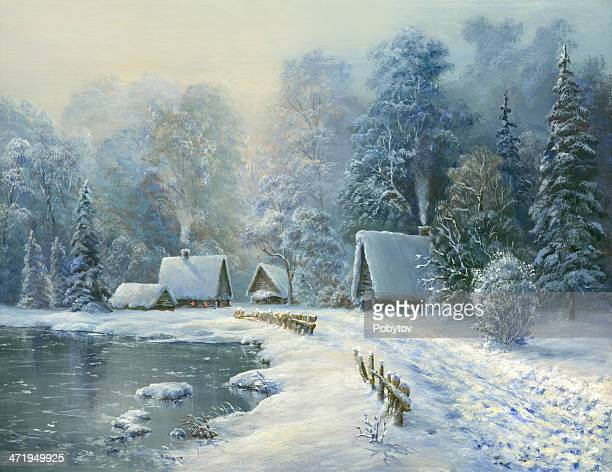 Frosty morning in the village
