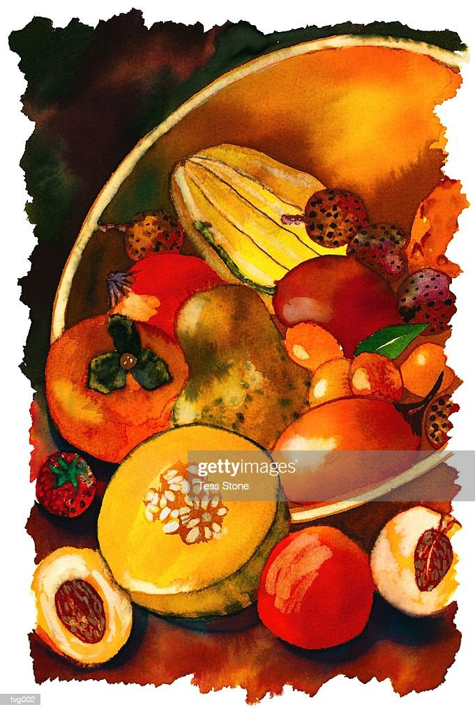 Fruit Bowl : Stockillustraties