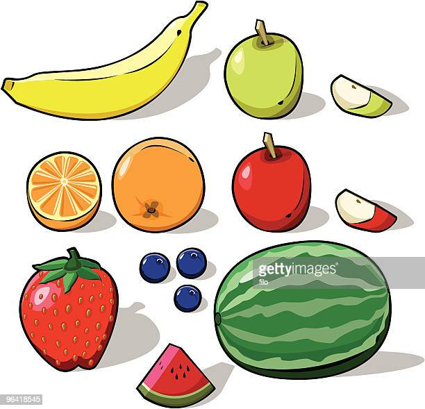 3d fruit [vector] - citrus fruit stock illustrations, clip art, cartoons, & icons