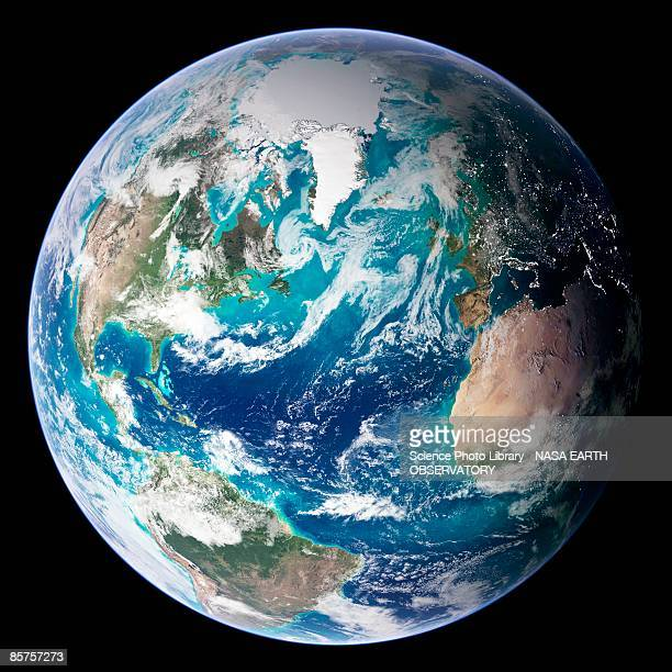 full earth, close-up - planet space stock illustrations